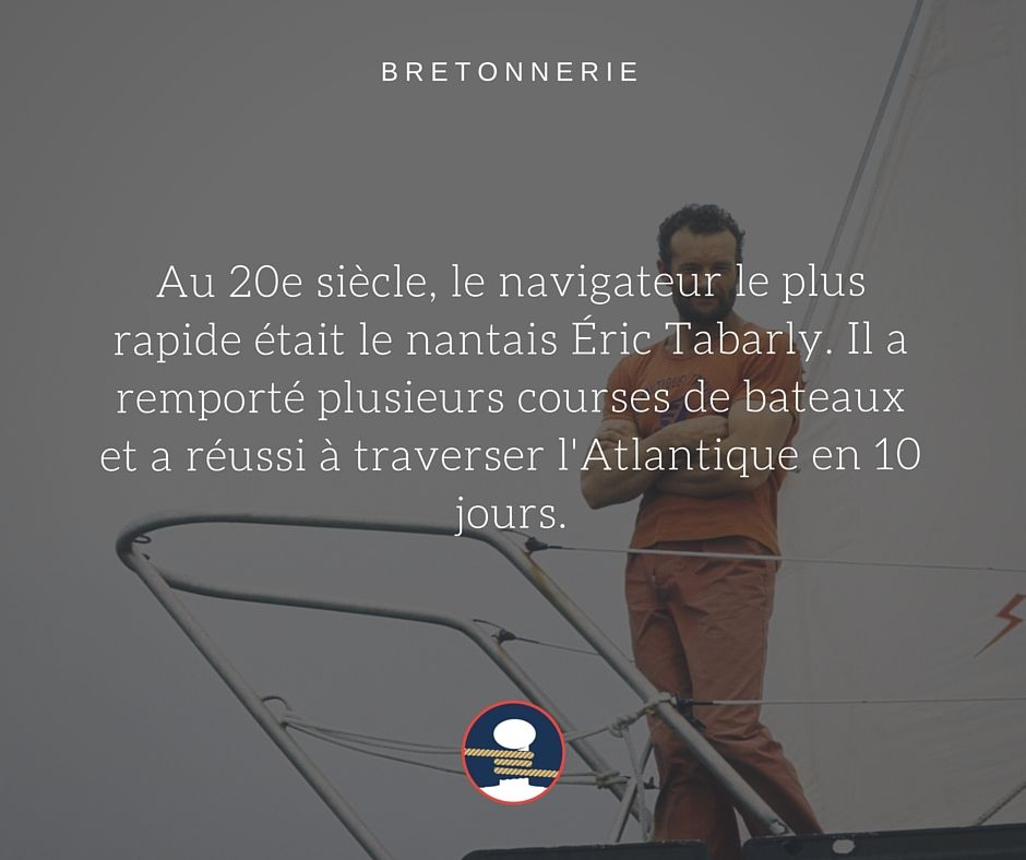 Bretonnerie : le navigateur nantais Éric Tabarly