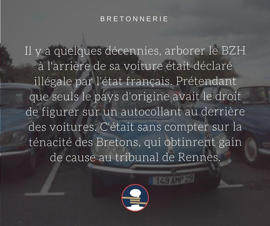Bretonnerie : la plaque d'immatriculation BZH