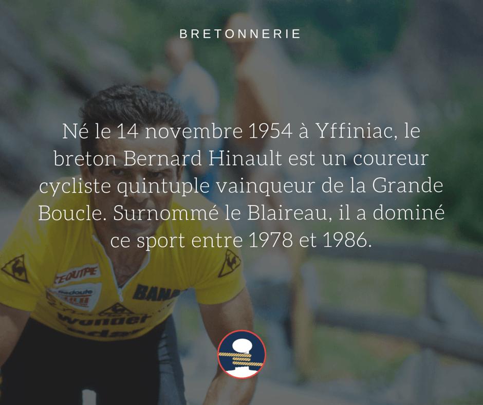 Bretonnerie : le cycliste Bernard Hinault alias le Blaireau