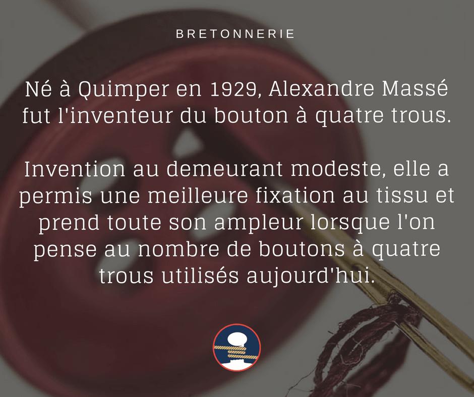 Le bouton à quatre trous par Alexandre Massé